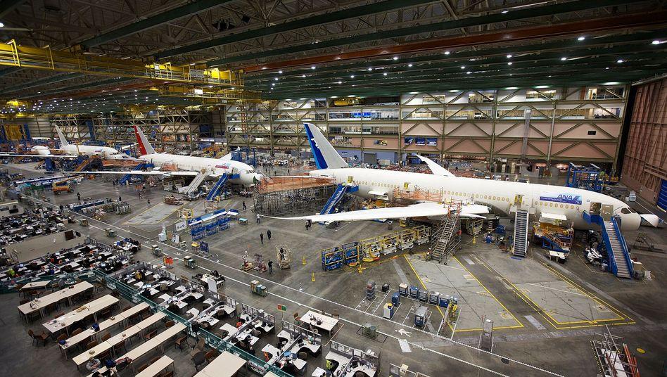 Dreamliner-Produktion in Everett: Woche für Woche wird eine Maschine fertig