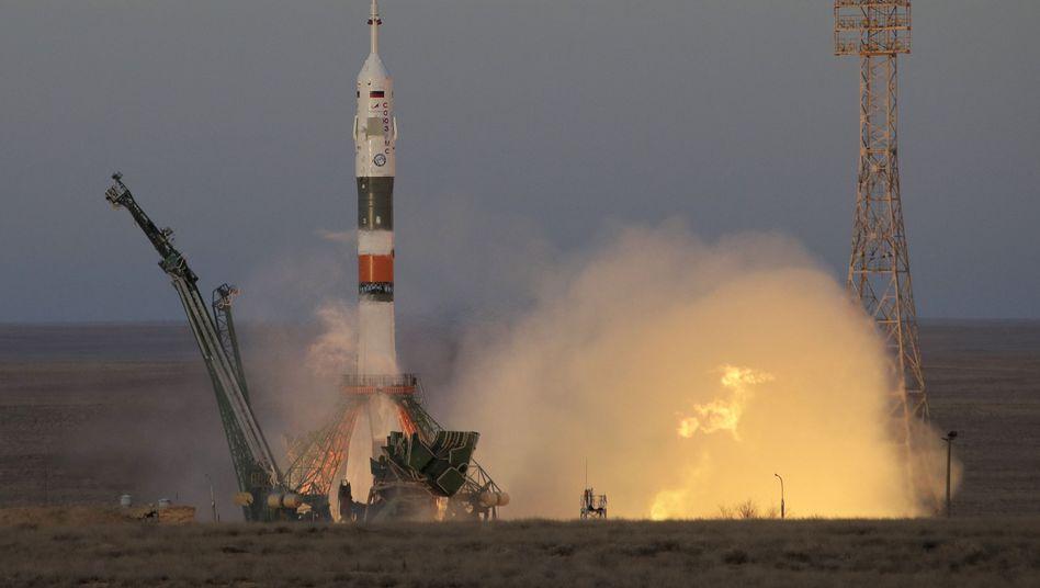 """Sojus MS-11""-Rakete beim Start"