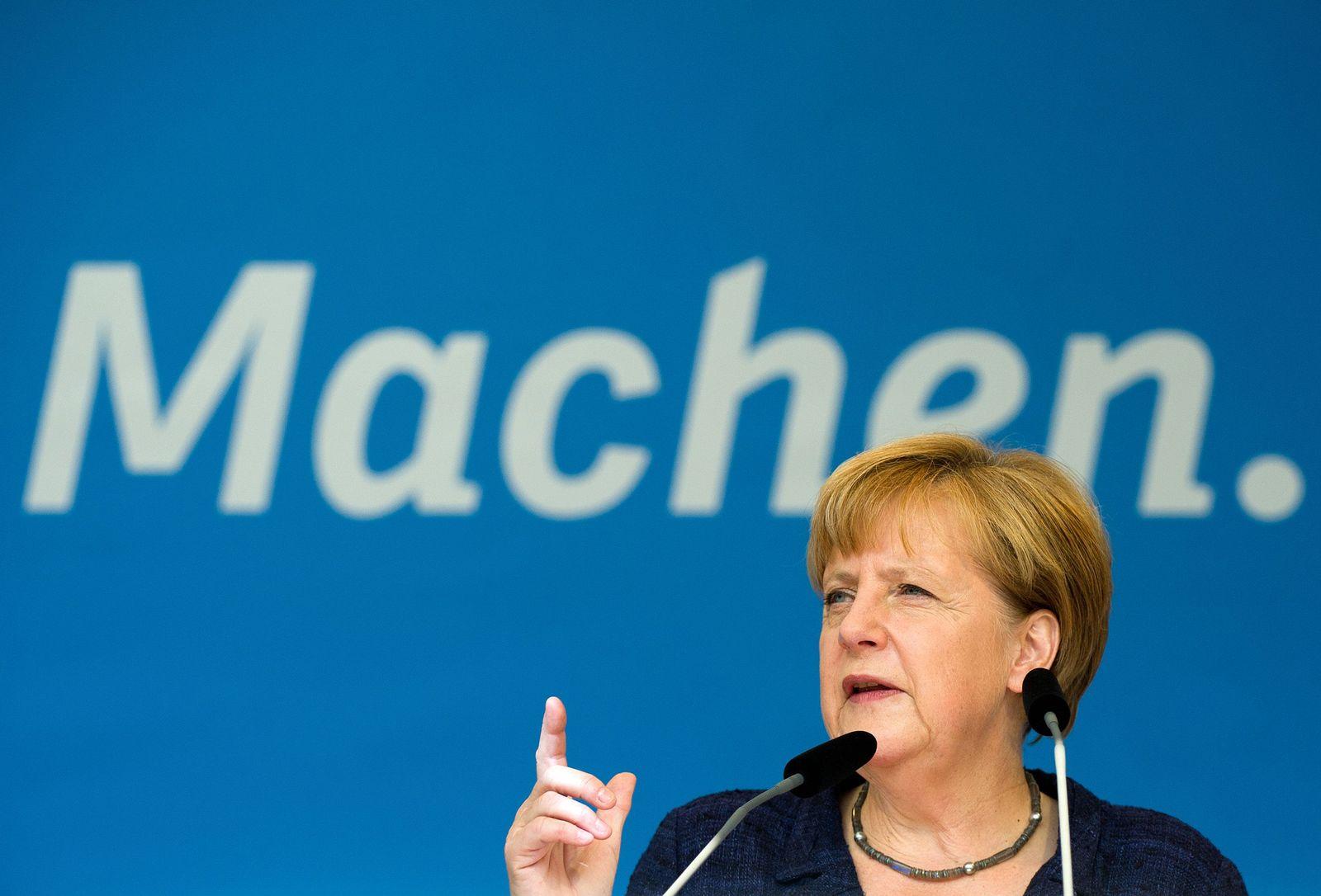 Bundeskanzlerin Merkel in Eberswalde