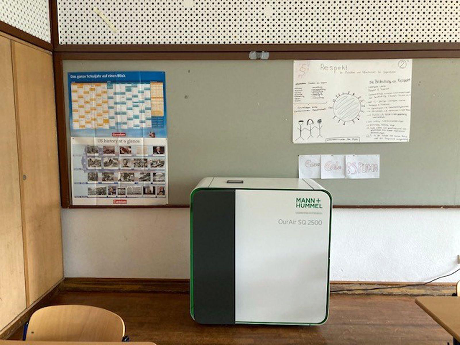 Studie zu mobilen Luftfiltern in Schulen