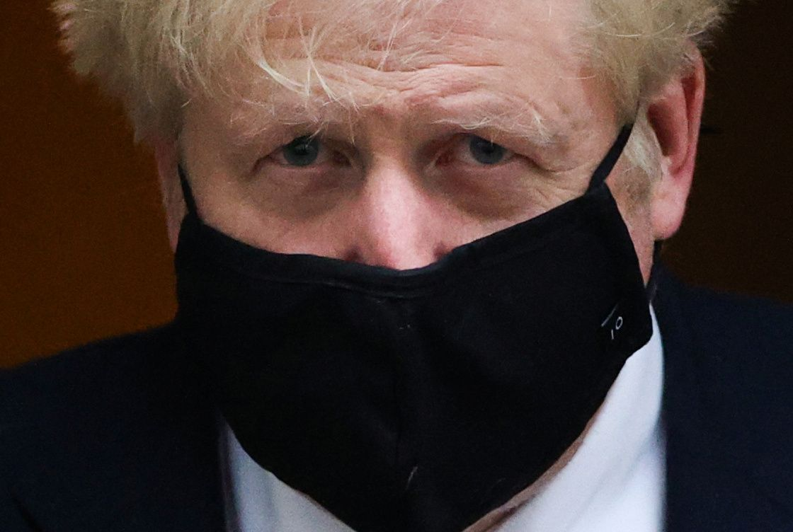 Britain's Prime Minister Boris Johnson leaves Downing Street, in London