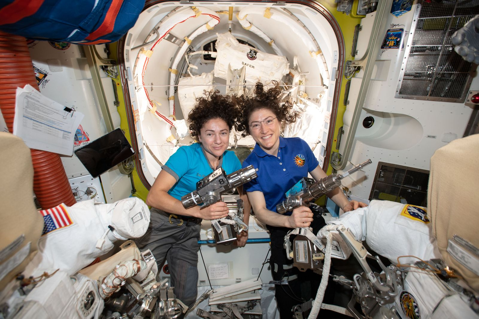 Upcoming first all-female spacewalking duo Jessica Meir and Christina Koch, Space - 15 Oct 2019