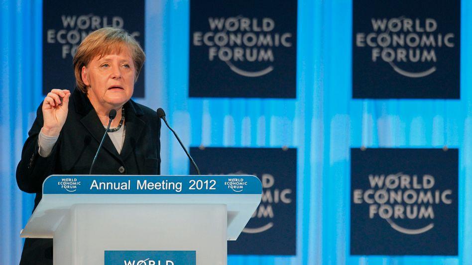 Angela Merkel in Davos: Überfordert uns nicht