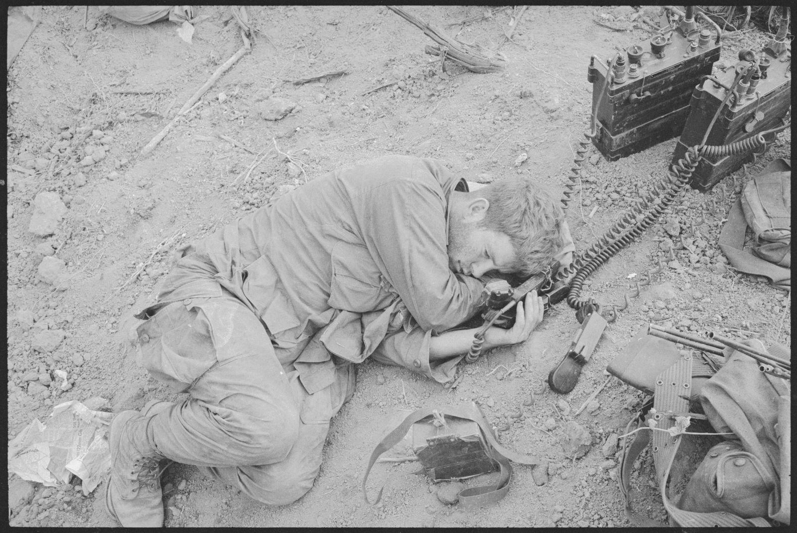 Kriegszitterer - Sgt. John G. Sheehan Resting After Battle of Hill 875