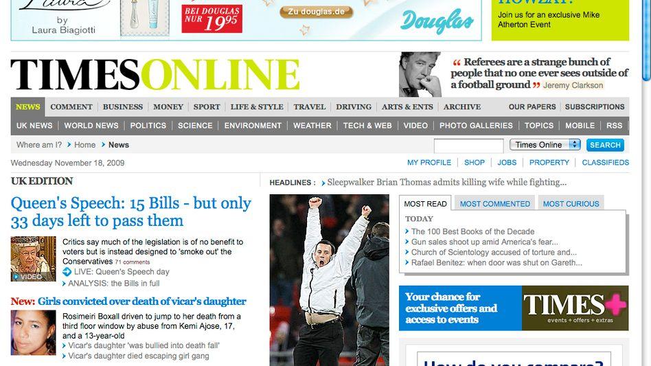 """""""Times Online"""": Bald nur noch gegen Bares"""