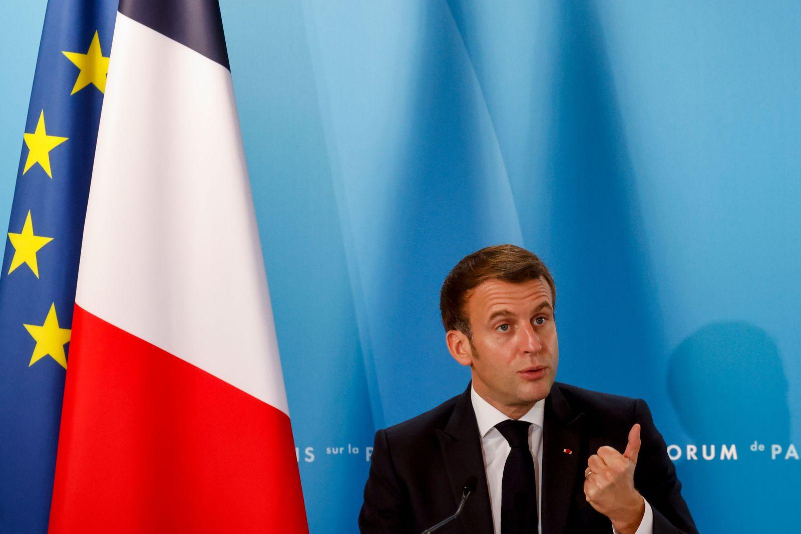 Peace Forum meeting at Elysee Palace, Paris, France - 12 Nov 2020