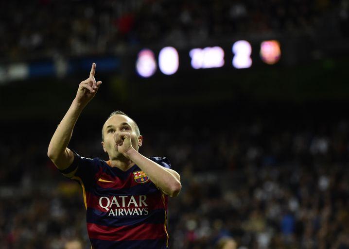 Iniesta gewann viermal den Champions-League-Titel