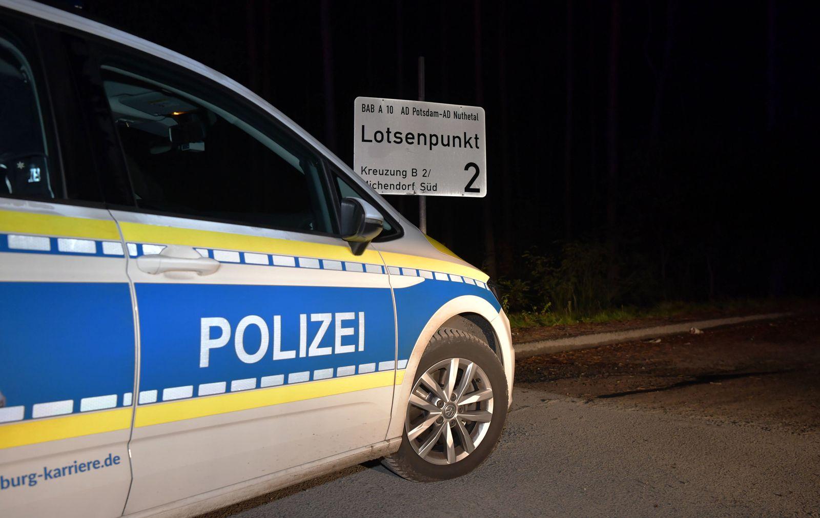 Autobahn A10 bei Michendorf gesperrt
