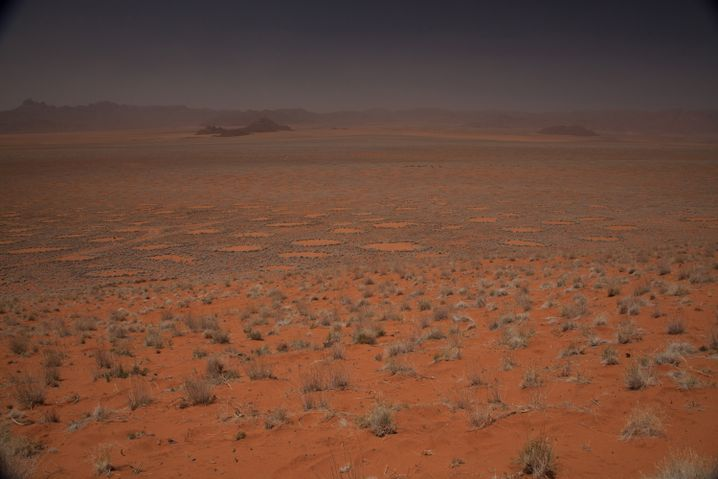 Kreise in Namibischer Wüste