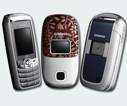 Siemens phones: The company took too long to integrate cameras into the phone housing.