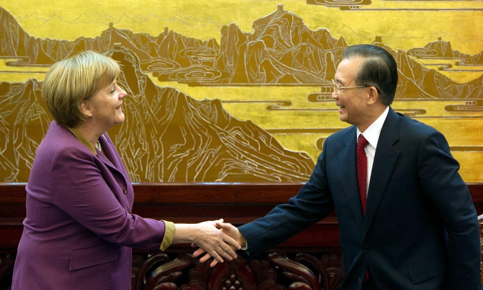 NICHT VERWENDEN Merkel und Wen Jiabao