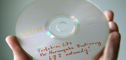 Kopie der sichergestellten Daten-CD: Betroffene sollten ihre Kontonummer wechseln