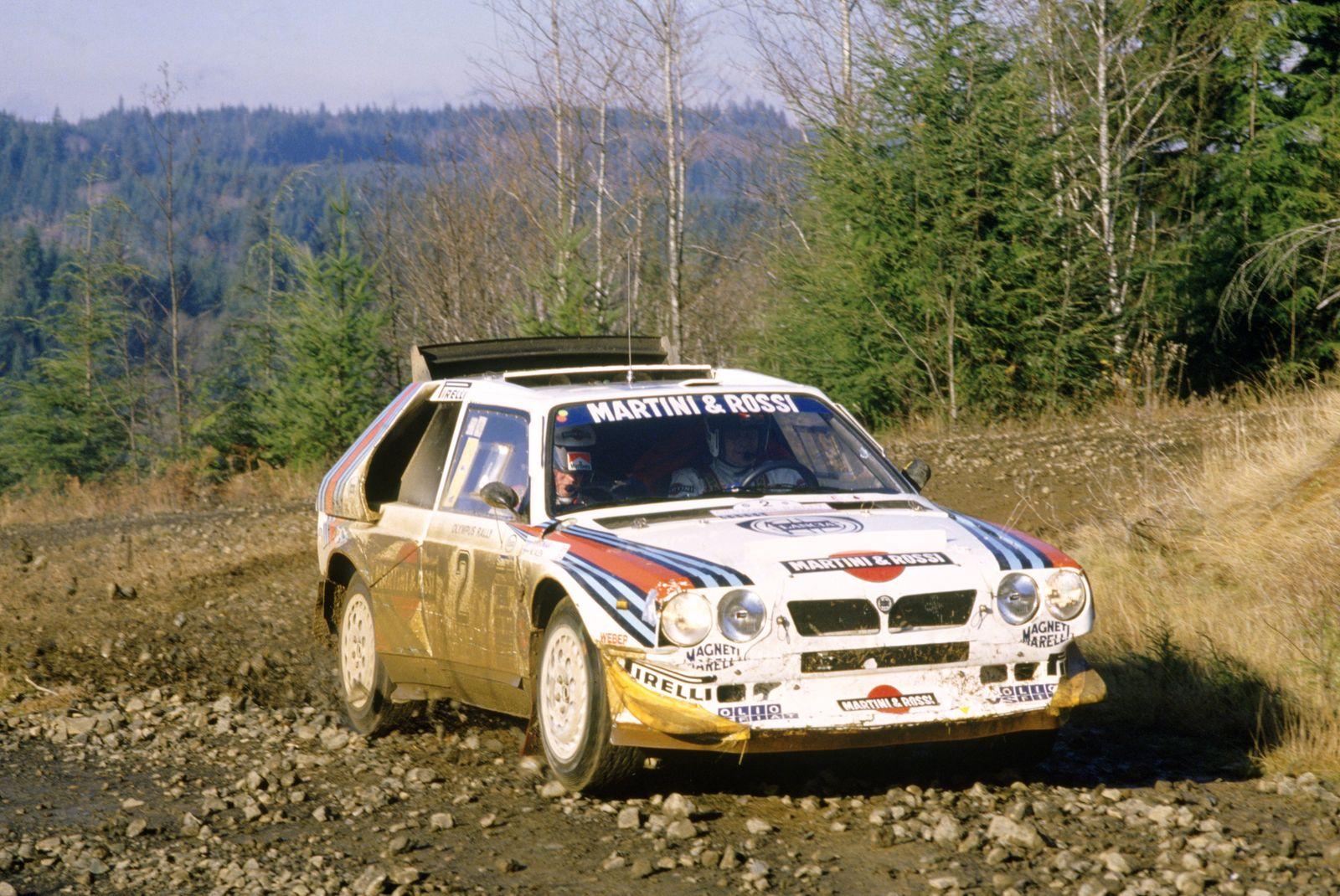 1986 World Rally Championship. Olympus Rally, United States (USA). 4-7 December 1986. Markku Alen/Ilkka Kivimaki (Lanci
