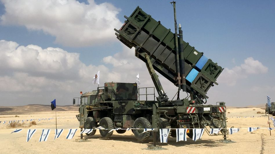 "Flugabwehrsystem Patriot beim Luftwaffentraining ""Blue Flag"" in Israel"