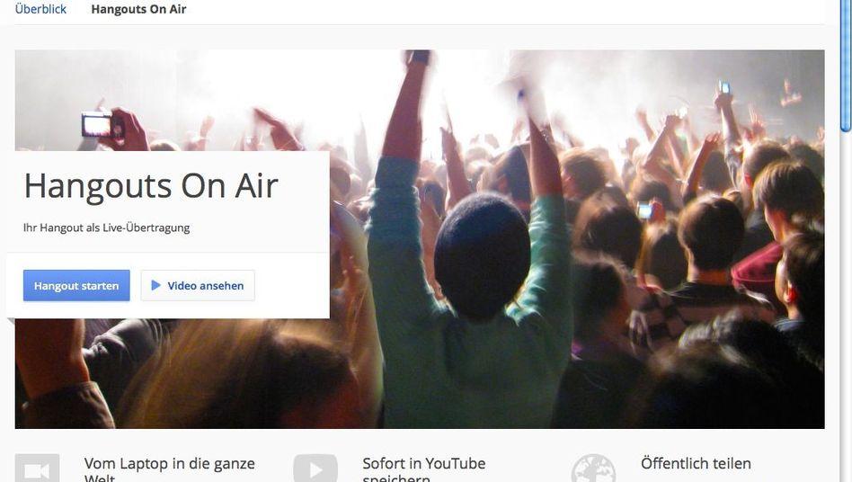 Google+ Hangouts On Air: Web-TV für jedermann