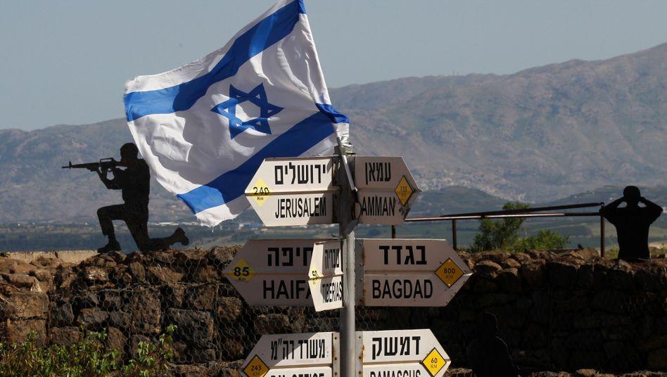 Israelischer Posten auf den Golanhöhen