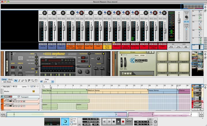 Musiksoftware Reason: Ein virtuelles Mehrspur-Studio