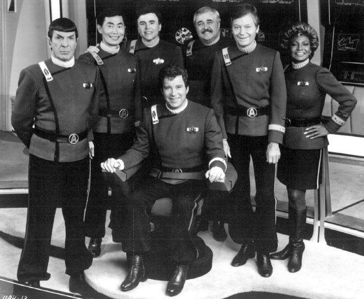 Letzter gemeinsamer Film: Nimoy mit der Crew der Enterprise NCC-1701-A
