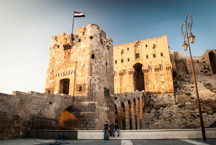 Die Zitadelle von Aleppo vor Beginn des Krieges