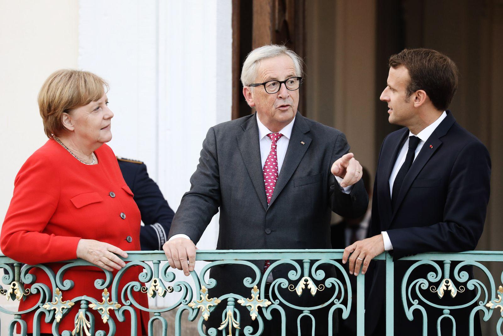 Merkel/ Macron/ Juncker