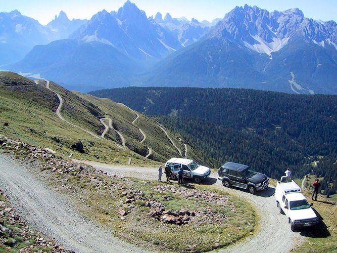 Umbrailpass: Große Aussicht, einsame Bergwelt.