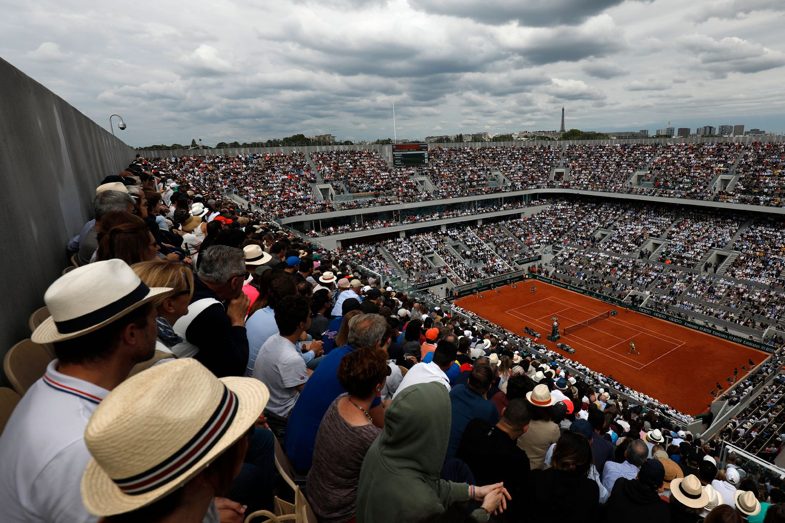 Virus Outbreak France Empty Roland Garros