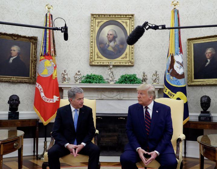 """Niinistö zu Besuch bei Trump: """"Sie haben hier eine tolle Demokratie. Halten Sie sie bloß aufrecht."""""""
