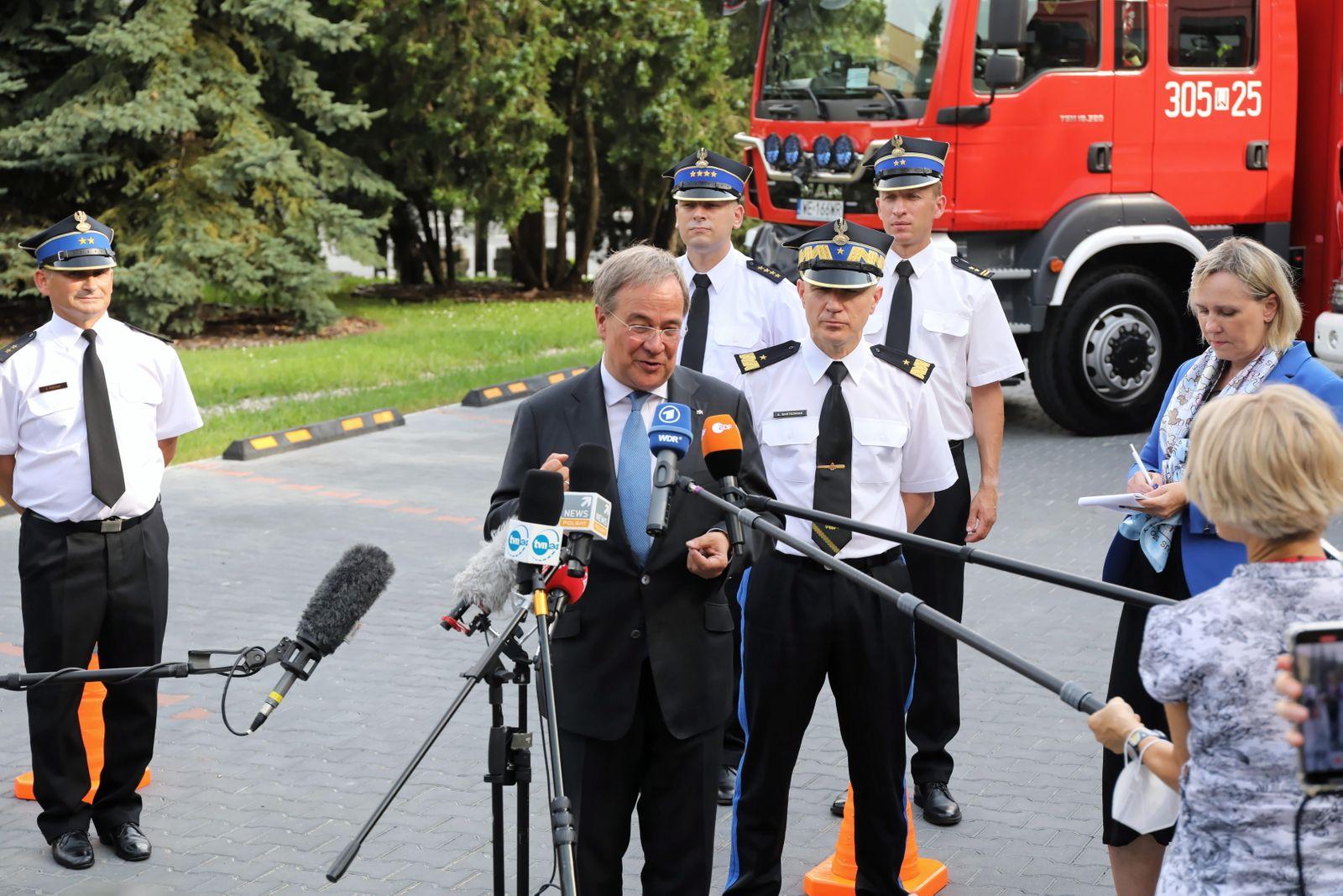 Prime Minister of North Rhine Westphalia Armin Laschet visit
