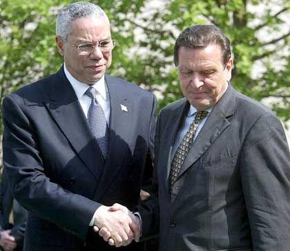 Powell und Schröder: Demütigung aus Washington