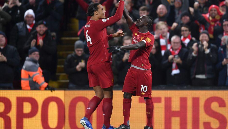 Virgil van Dijk ist in der Abwehr Liverpools wichtigster Mann, Sadio Mané gehört vorne zu den Leistungsträgern