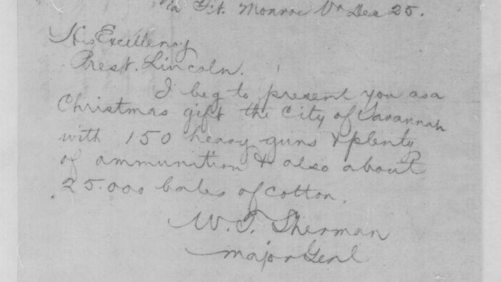 Präsent für den Präsidenten: Telegramm aus Savannah: Stadt zu verschenken