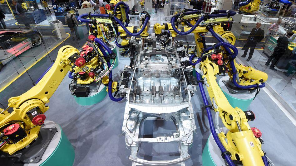 Roboter bei der Robotik-Messe in München