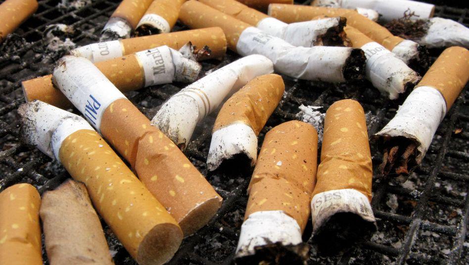 Zigarettenkippen: Mit dem Rauchen aufzuhören fällt vielen schwer