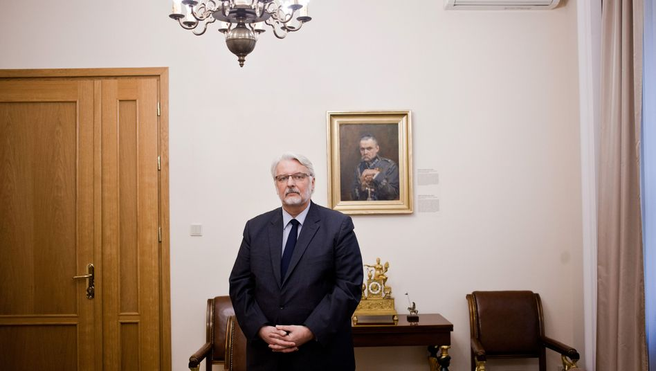 Witold Waszczykowski in his office in Warsaw