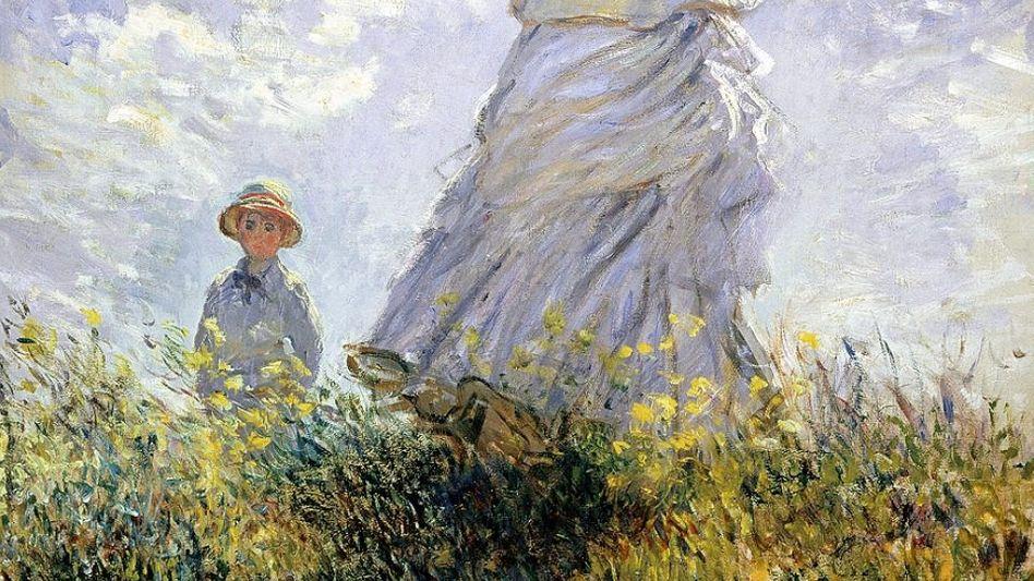 Monet-Gemälde »Der Spaziergang«, 1875