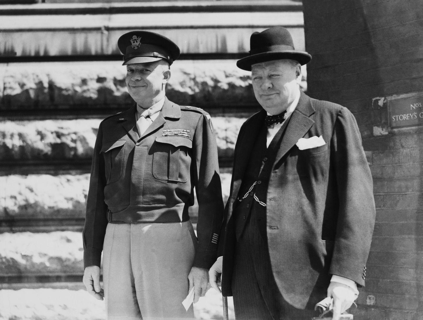 Eisenhower Meets Churchill In London, 1945.