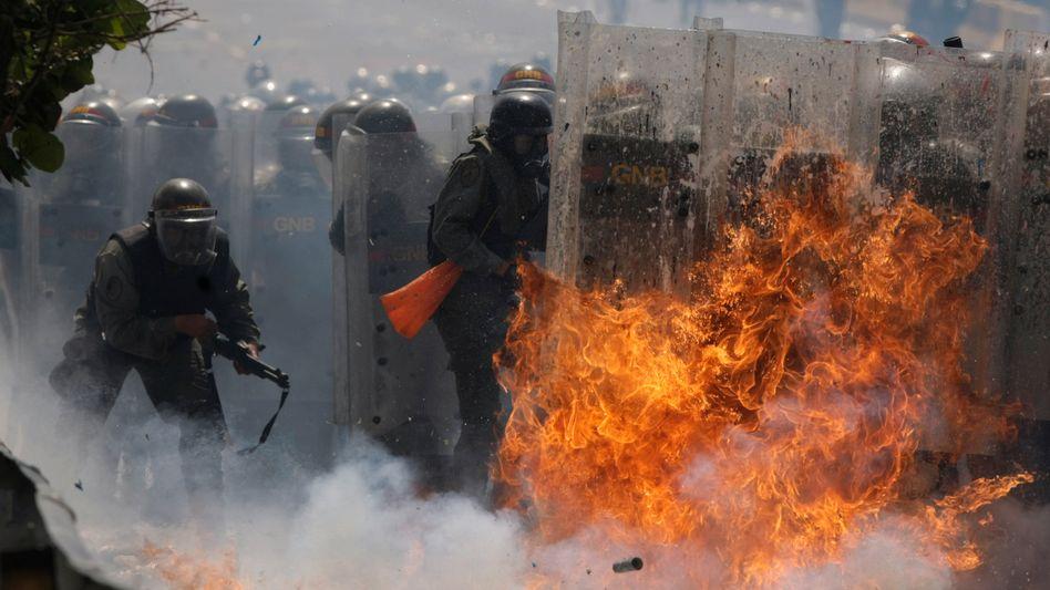 Kräfte der Nationalgarde in Caracas