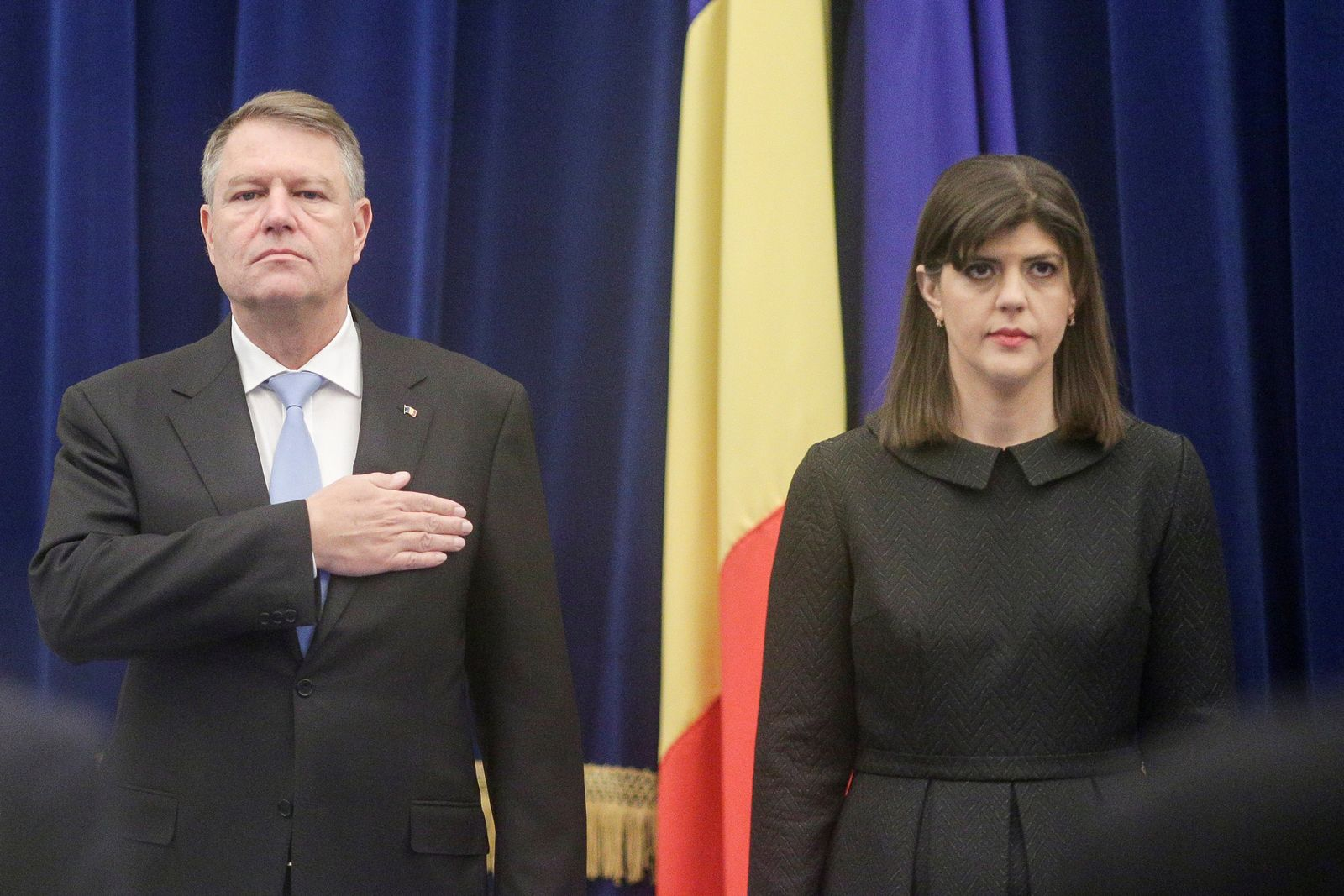 EINMALIGE VERWENDUNG Klaus Iohannis/ Laura Codruta Kovesi/ Rumänien