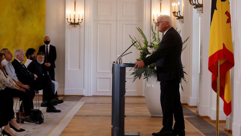 """Bundespräsident Frank-Walter Steinmeier: """"Wir müssen unsere Stimme erheben und solidarisch sein"""""""
