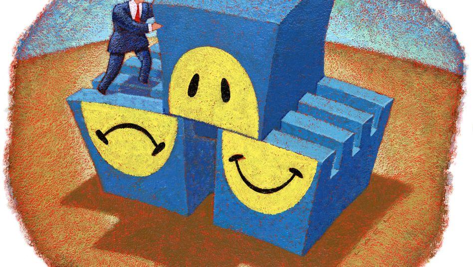 Zutiefst unglücklich, extrem euphorisch: Die Gefühlswelt von Menschen mit bipolaren Störungen gleicht einer Achterbahnfahrt