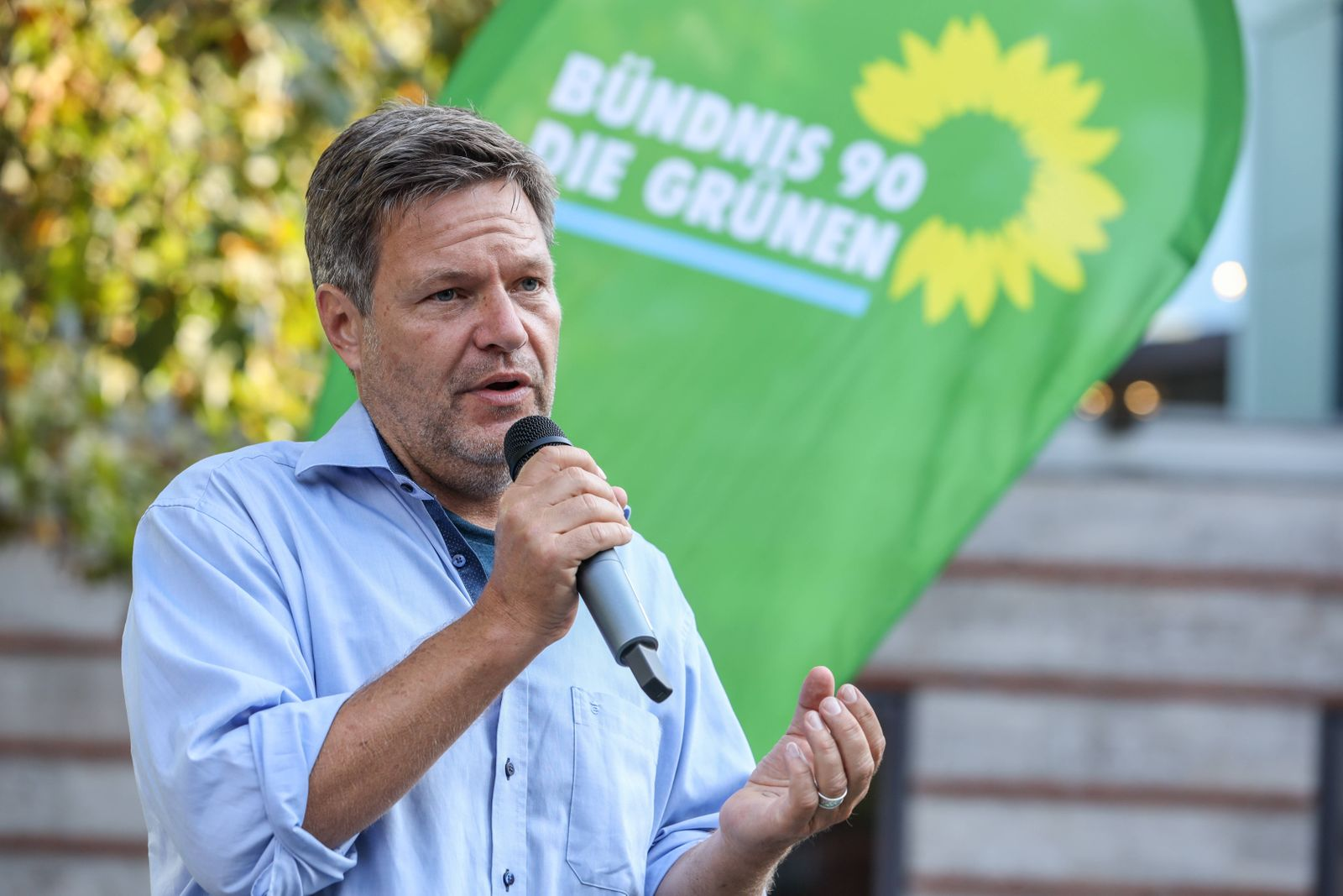 Kommunalwahkampf NRW 2020 Bündnis 90 Die Grünen DEU, Deutschland, Nordrhein-Westfalen, Münster, 23.09.2020: Der Oberbür