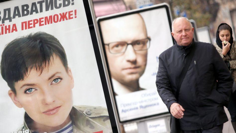 Wahlplakate in Kiew: Bekenntnis zu Europa