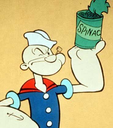 Zeichentickheld Popeye: Muskelmasse in Sekunden