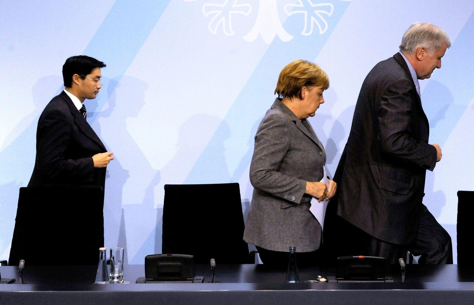 Rösler / Merkel / Seehofer