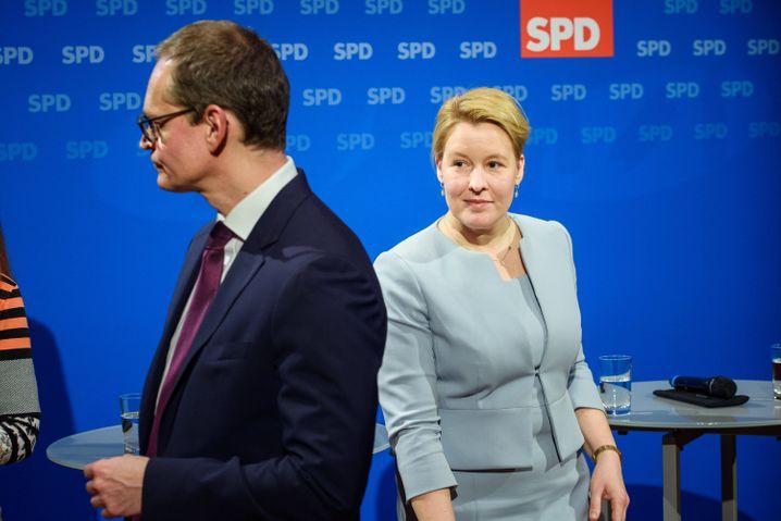 Müller, Giffey: SPD will das Rote Rathaus verteidigen