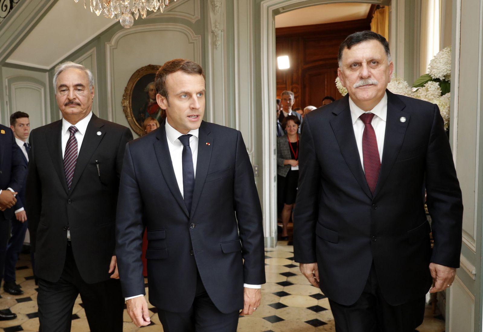 Friedensgespräche Libyen Haftar Sarradsch Macron