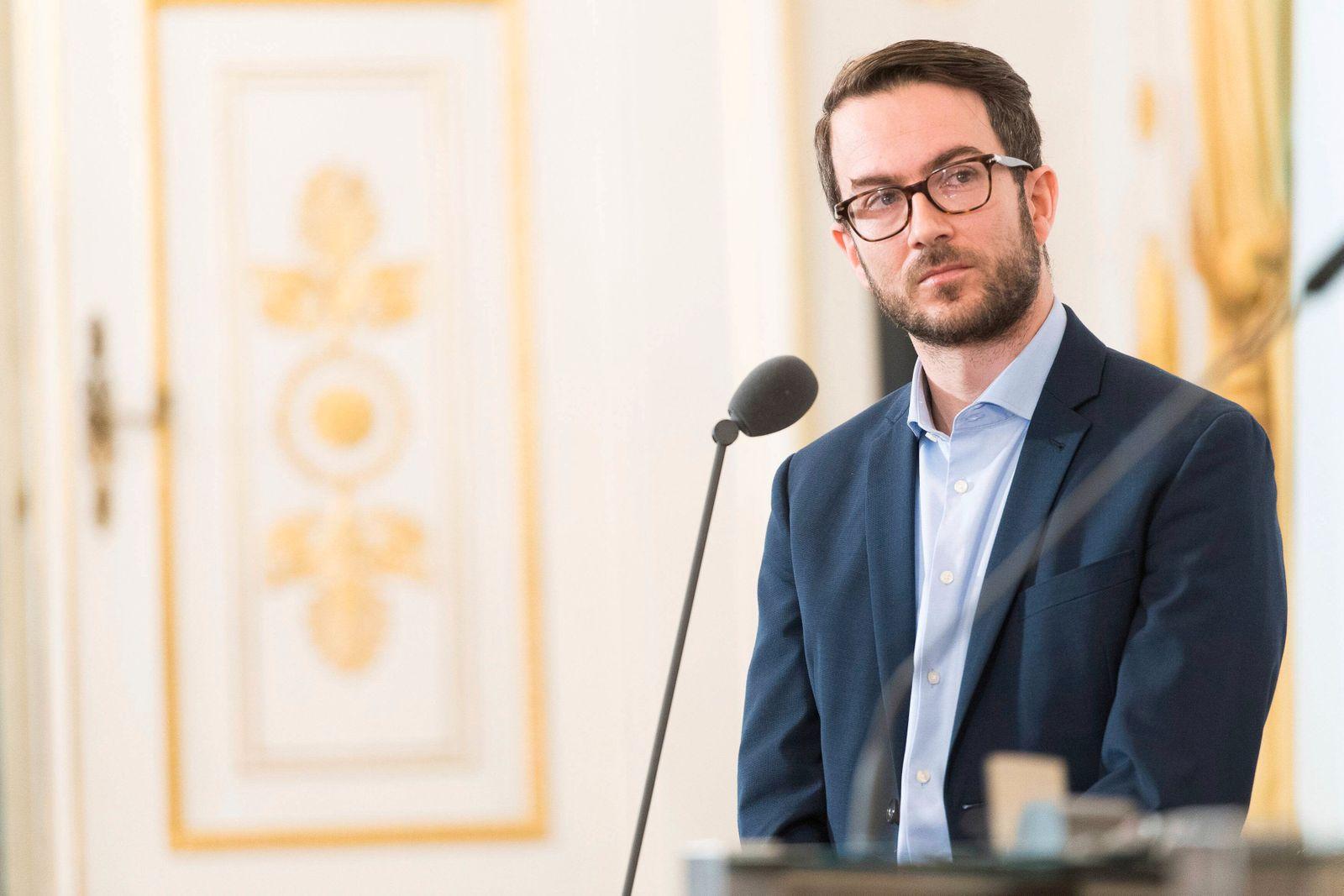 Wien 11 04 2019 Bundeskanzleramt Wien AUT Bundesregierung Pressekonferenz zum Thema Ausbau der