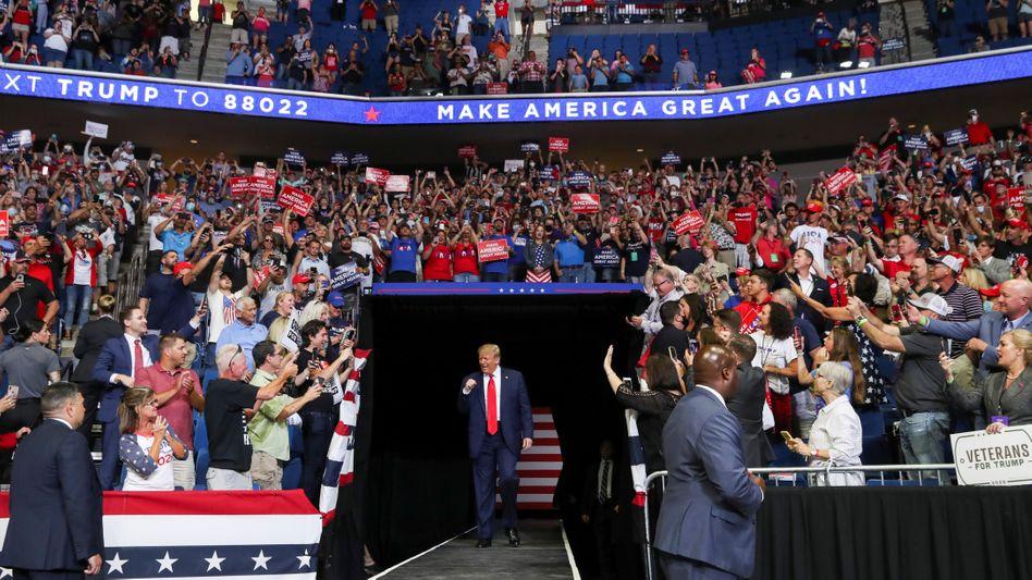 Donald Trump bei seinem Auftritt in Tulsa
