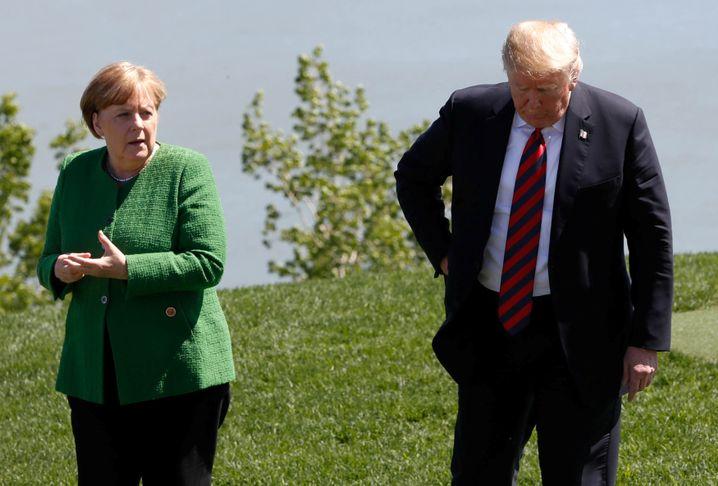 Angela Merkel und Donald Trump beim G7-Gipfel nahe Quebec (im Juni 2018)