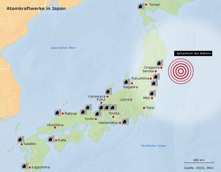 Atomkraftwerke in Japan